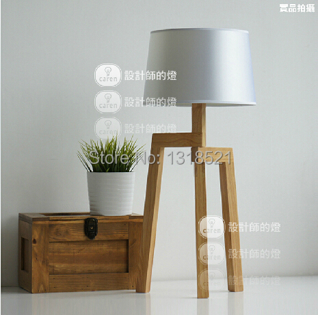 EMS Free Ship Table Lamps E27 Contemporary Wooden Table Lamps Artistic Beige With Linen Fabric Shade Table Lighting LBMT-ZM цена