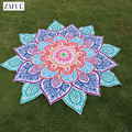 ZAFUL 2017 Multicolor Indian Mandala Paisley Lotus Shape Beach Sarong Women Beach Cover Up Women Summer Bikini Robe De Bain Mats