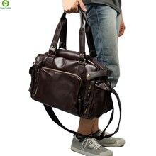 Nouveau Mode Multifonction Mens PU en cuir Sacs de Voyage Marque Étanche Vintage hommes messenger sacs de haute qualité sacs à bandoulière