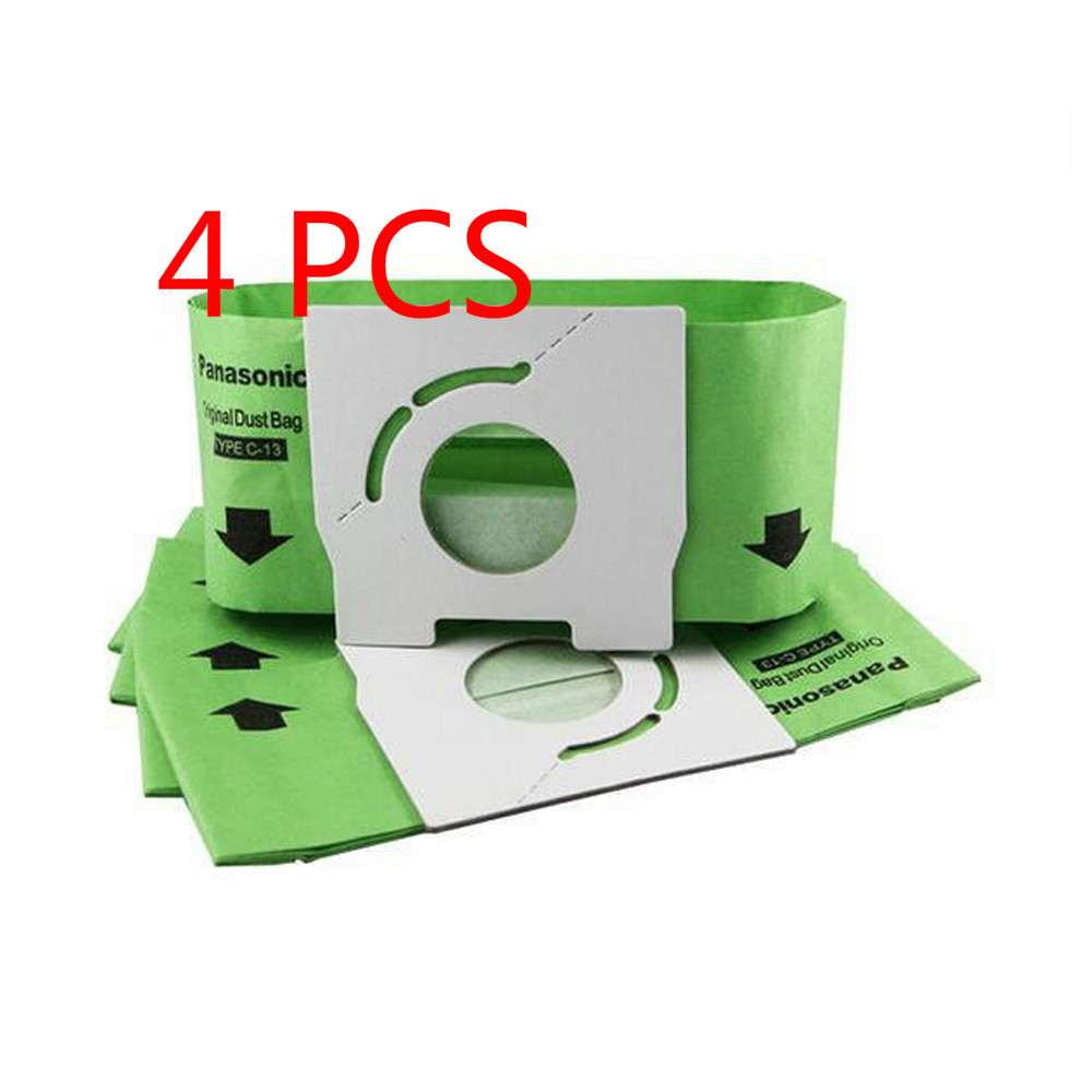 Free Post 4 PCS New Vacuum Cleaner Bags Dust Bag C-13 Paper Bags Replacement for Panasonic MC-CA291 MC-CA391 MC-CA301 30pcs lot replacement vacuum cleaner bags dust collector paper bags for vacuum cleaner mc cg321 ca291 ca391c 13 bag parts