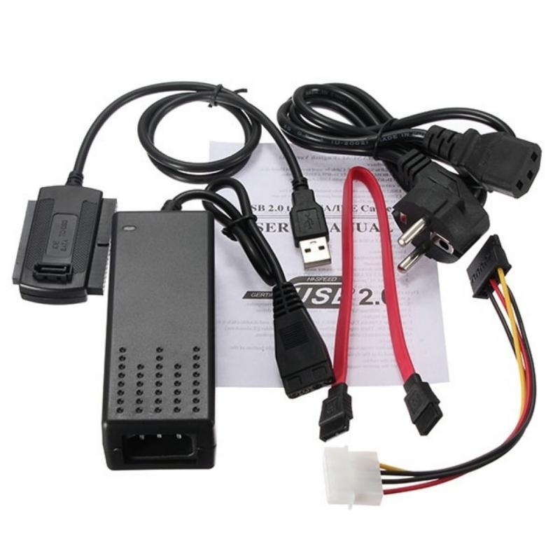 USB 2,0 a SATA/IDE Cable se utiliza para conectar discos duros, CD-ROM, DVD-ROM, CD-RW, dispositivo COMBO, DVD-RW al ordenador con USB 2,0 en