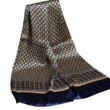 Роскошный брендовый шелковый шарф для мужчин, деловой Повседневный Королевский платок с принтом пейсли, винтажный английский жаккардовый шарф, кашне