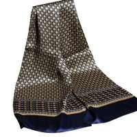 Роскошный брендовый шелковый шарф для мужчин, деловой Повседневный Королевский платок с принтом пейсли, винтажный английский жаккардовый ...