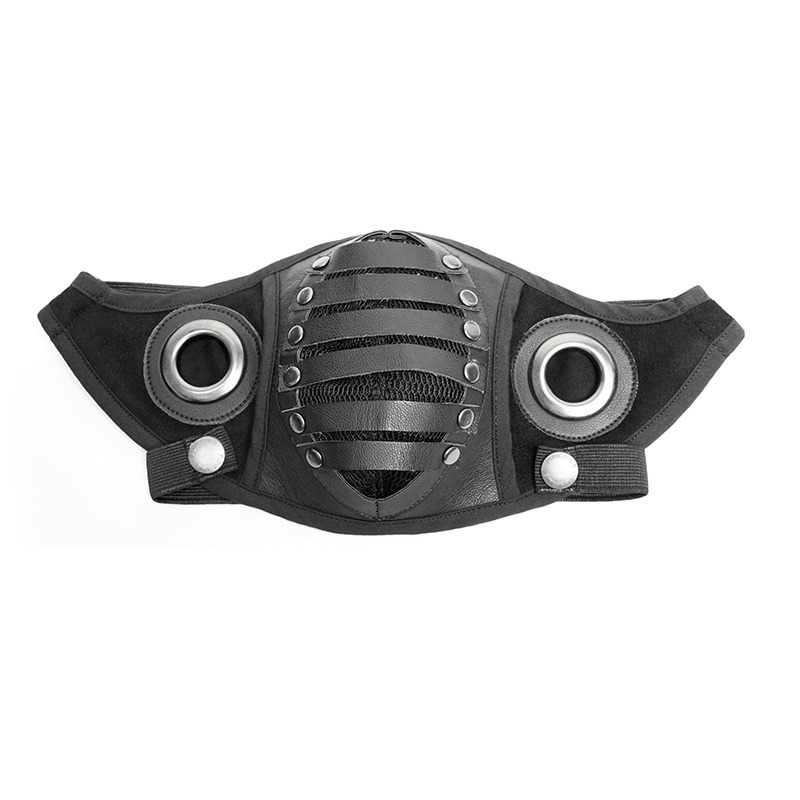 Men's Costumes Back To Search Resultsnovelty & Special Use Fashion Pu Leather Inside Breathable Double Net Cool Men Masks Steampunk Classic Black Gas Mask Gothic Cosplay Punk Rave S-270