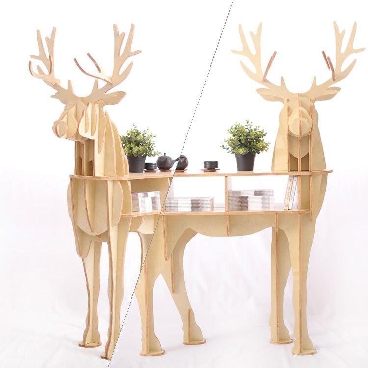 Fa szarvas otthoni dekorációs dohányzóasztal KING II. Önálló - Bútorok - Fénykép 4