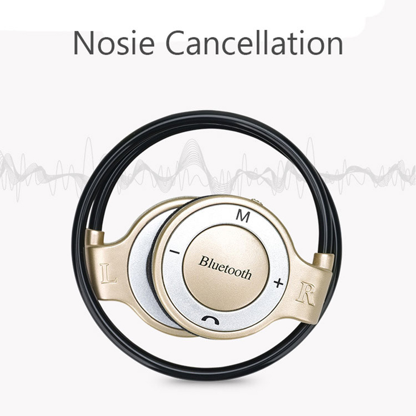 Neckband Sports Wireless Bluetooth Earphones Stereo Headphones MP3 Music Player Headsets TF Card Handsfree Mic for iPhone Xiaomi