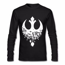 Hombres Fractured Rebellion Star wars T shirts JEDI REBEL T-shirt homme tee shirt Darth Vader hip hop tshirt camisetas Masculino(China)