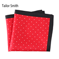 Tailor Smith Luxury Silk Printed Pocket Square Small Polka Dot New Pattern Hanky Elegant Mens Office Formal Fancy Handkerchief