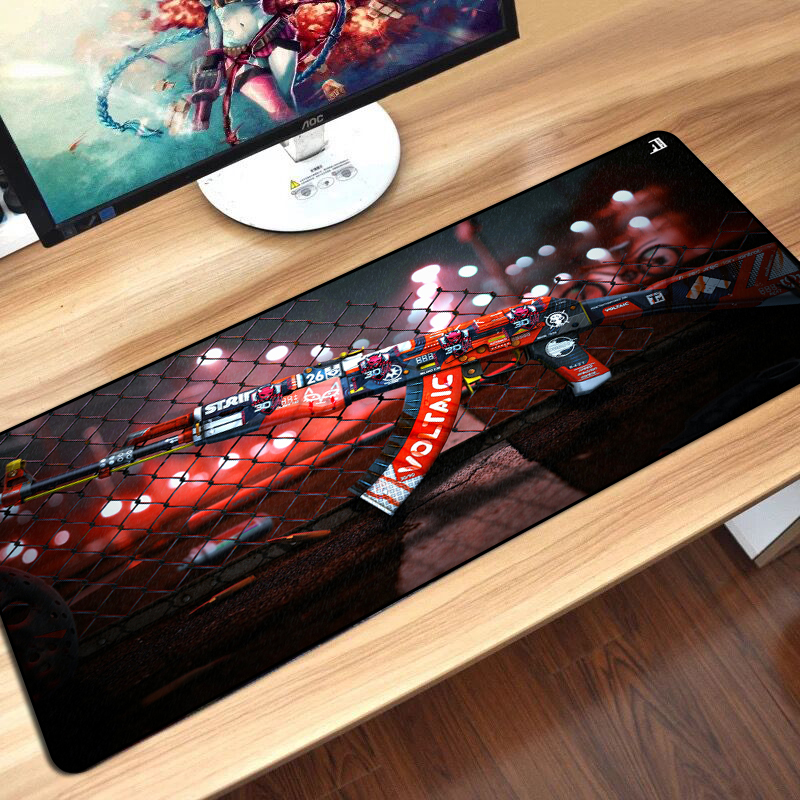 CS GO Gamer Mouse Pad Durable Non-slip Keyboard Mouse Mat Hyper beast AWP Boyfriend Best Gift Overlock Edge Big Gaming Mouse Pad image