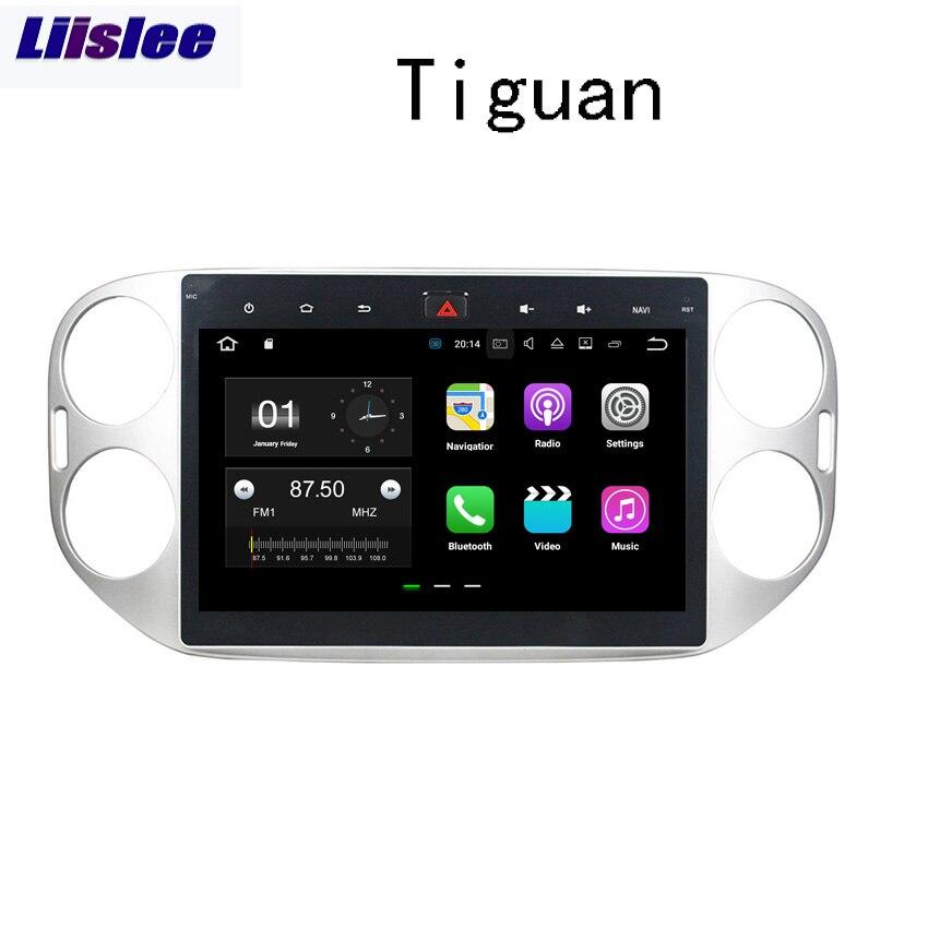 GPS de Navigation de voiture d'android de Liislee pour VW Tiguan 2013 ~ 2015 Audio vidéo lecteur multimédia stéréo d'écran tactile de HD aucun CD DVD.