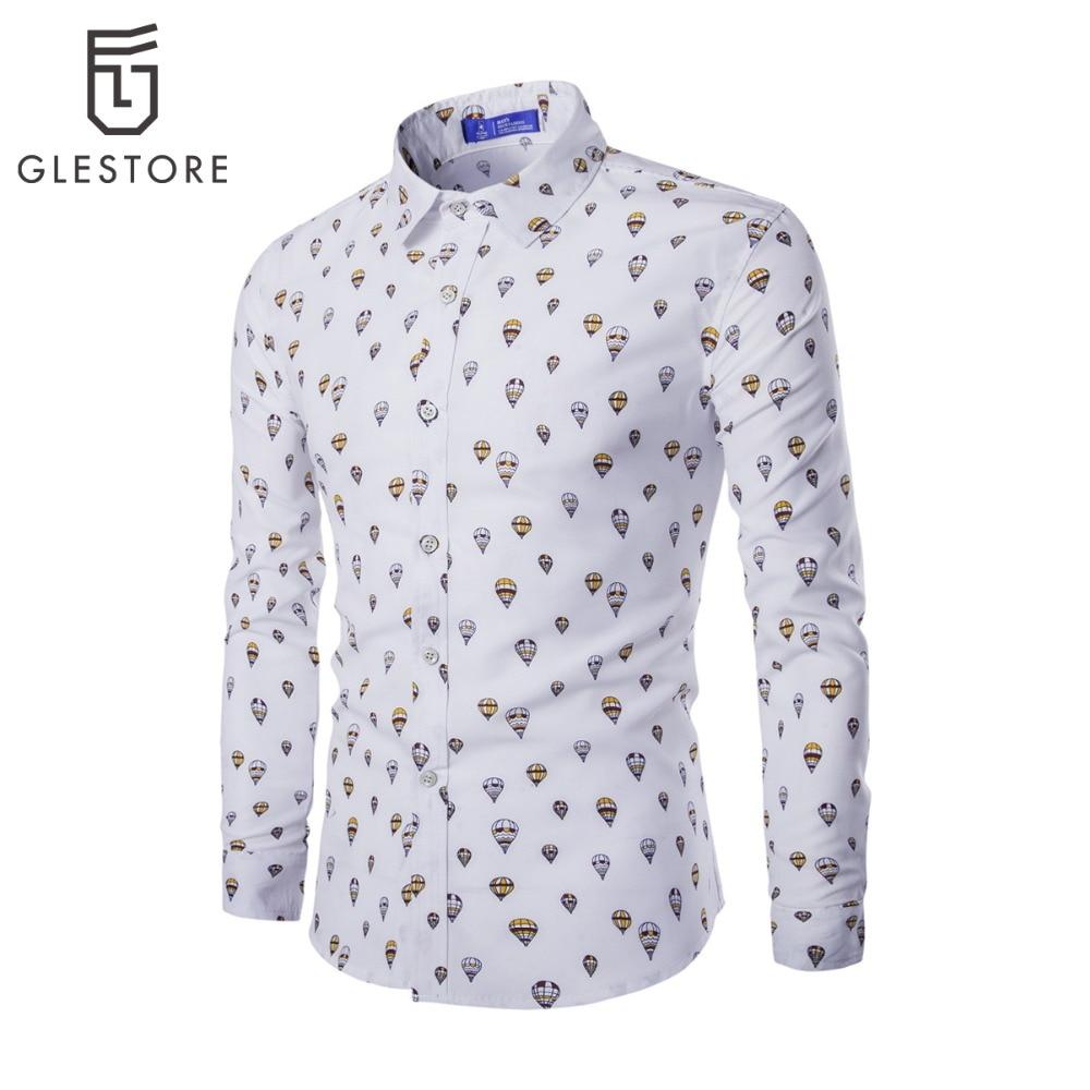 Glestore men shirt mens dress shirts brand clothing long for Mens lilac dress shirt