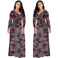 69f958517 2017 New Long Dress Floral Summer Maxi Dress 5XL Plus Size Vestido Longo Boho  Bohemian
