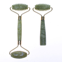 Jade Roller Massage Double Head Facial Massage Slimming Anti Wrinkle Anti Cellulite Tool Face Beauty Body Head Neck Foot
