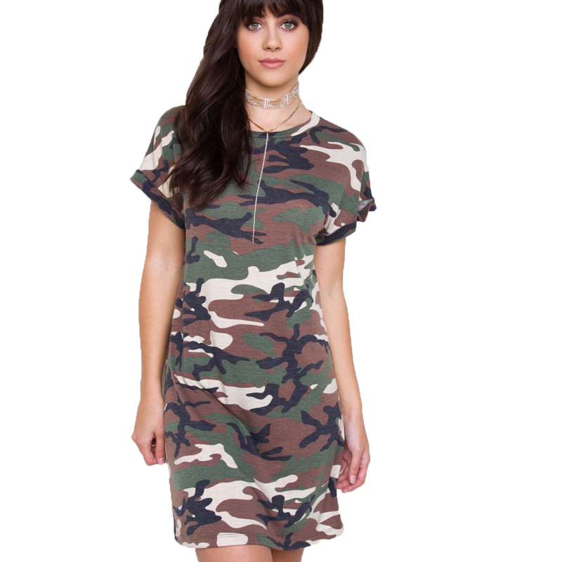 5a7be182bc3 Lace Girl Camo Tshirt Dress 2017 New Army Camouflage Loose Cotton T Shirt  Dresses Kendall Jenner Dress Casual Women Summer Dress-in Dresses from  Women's ...
