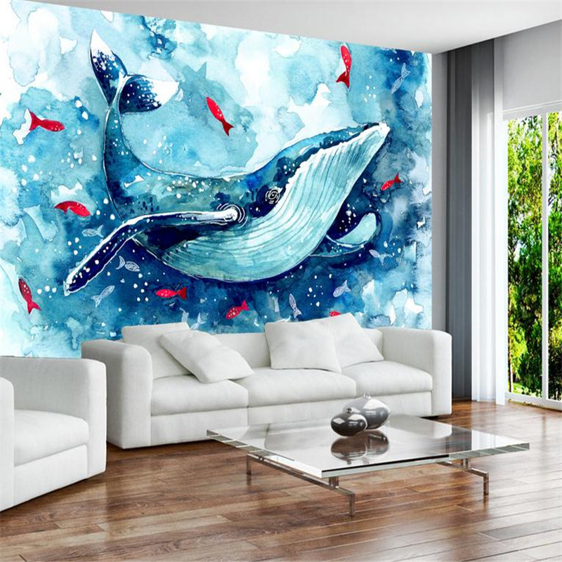 3d modern custom photo wallpaper large 3d hands painting cartoon dolphins wall mural living room bedroom background wallpaper modern simple romantic snow large mural wallpaper for living room bedroom wallpaper painting tv backdrop 3d wallpaper