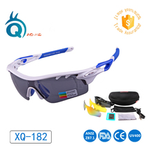 XunQi Brand Polarized Sports Men Sunglasses Road Cycling  Mountain Bike Bicycle Riding Protection Goggles Eyewear Three Lens недорого