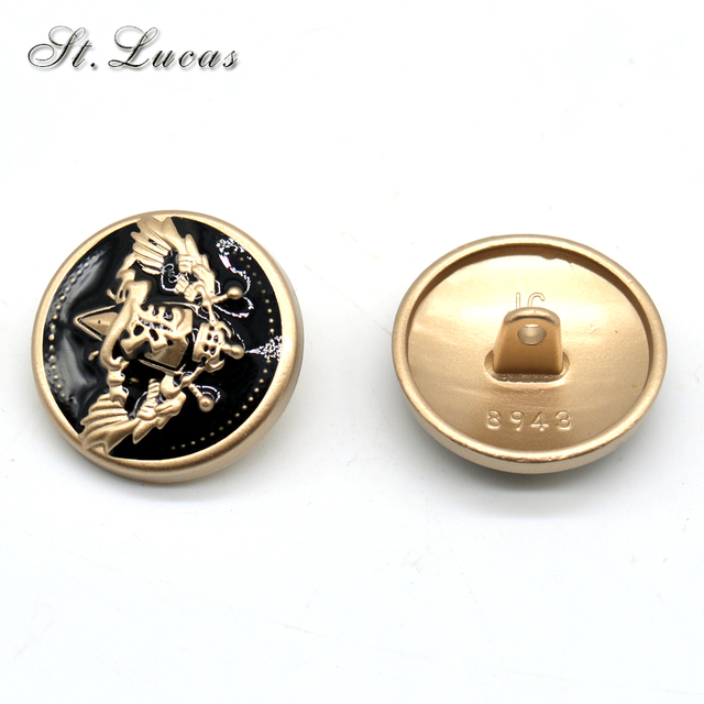 21d9e24a583 New fashion decorative button high quality gold army military star sewing  buttons for shirt overcoat garment ccessories DIY
