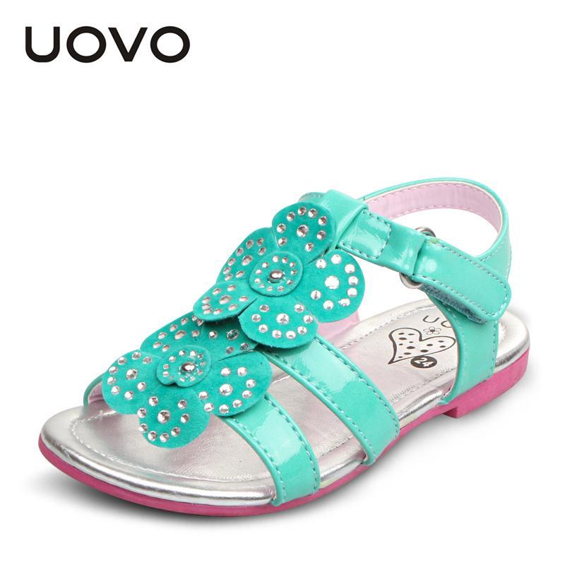 5505141b UOVO niño Sandalias de Las Muchachas Niños Zapatos de diamantes de  Imitación Flor de Verano Brillante Glitter Princess Sandalias Menina  EU25-35 Zapatillas ...