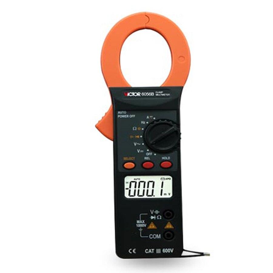 6056B Clamp Meter , Digital Clamp table,  Multimeter 3/4 AC/DC large LCD display Manual Range mini multimeter holdpeak hp 36c ad dc manual range digital multimeter meter portable digital multimeter