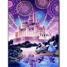 Full Square/Round Drill 5D DIY Diamond Painting Disney Castle 3D Embroidery Cross Stitch Mickey Mouse Mosaic Decor