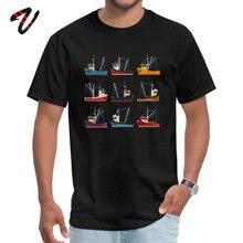 Printed Tshirts Crewneck Fishing Trawlers Hakuna Matata Men Tops Shirt Customized Rick And Morty Sleeve Tshirt Top Quality