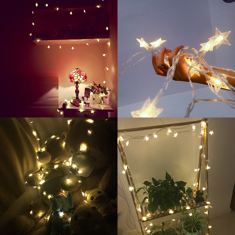 10M 20M 30M 220V EU Plug Outdoor 8 Mode LED Christmas Garland Tree Star String Fairy Lights For Party Holiday Wedding Decoration in LED String from Lights Lighting