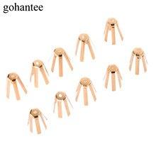 Gohantee 10 個ゴルフ真鍮アダプタスペーサーシムモデル 0.335 と 0.350 24 ミリメートルフィットゴルフシャフトとゴルフクラブアクセサリー