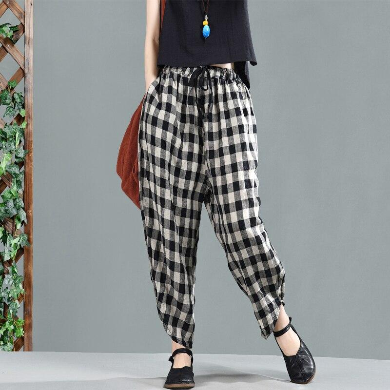Primavera Elástica Niña Las Mori Retro Plaid Cintura Bolsillo photo Negro 2019 Casual Color De Mujeres Pajarita Pantalones Señoras YB6xprqwY
