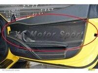 Автомобильные аксессуары углеродного волокна OEM Стиль внутренние двери Панель 2 шт. подходит для 2010 2014 F458 Italia купе и паук двери Панель крышка