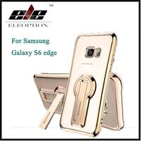 Eleoption Souple TPU Caoutchouc Gel Silicone Béquille Couverture de Cas Pour Samsung Galaxy S6 Bord