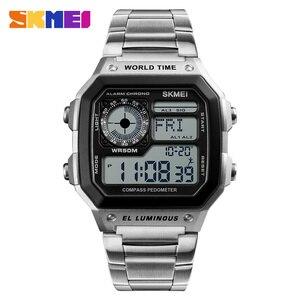 Image 1 - 2019 Top Brand SKMEI Women Men Digital Watch Luxury Calorie Compass Electronic Watch Fashion Sport Bracelet LED dispiay Clock