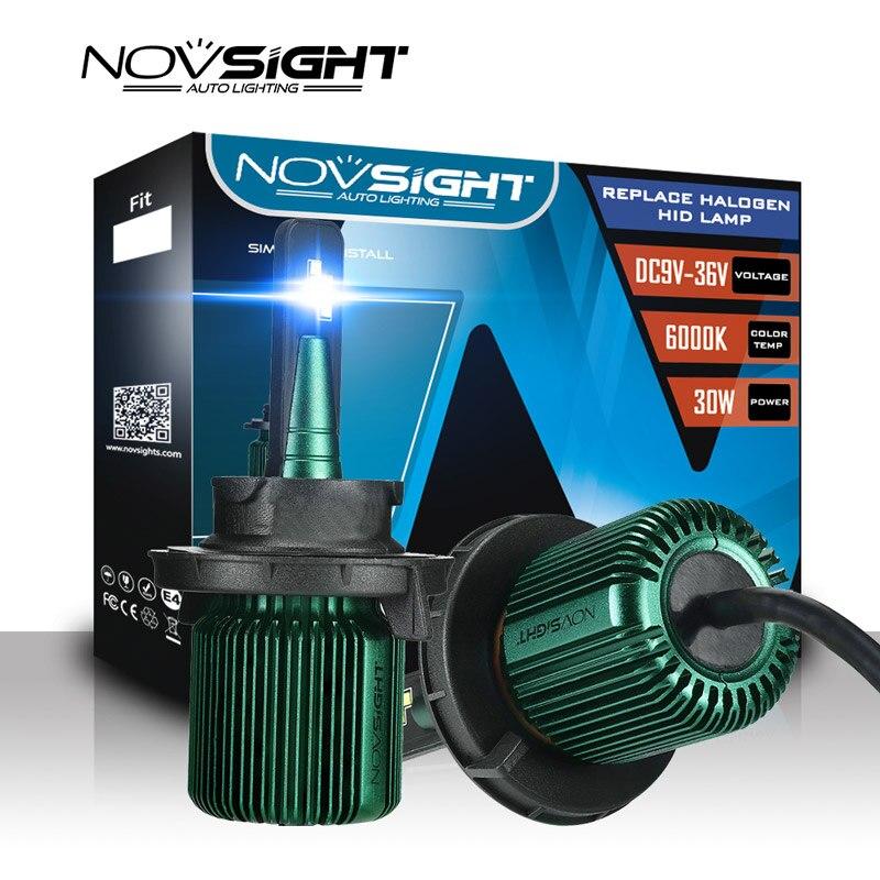 NOVSIGHT 2Pcs Super Mini Car LED Headlight Bulbs csp Chips 50W 10000LM 6500K H4 H7 H11 9005 9006 Auto Fog Lights Car Styling