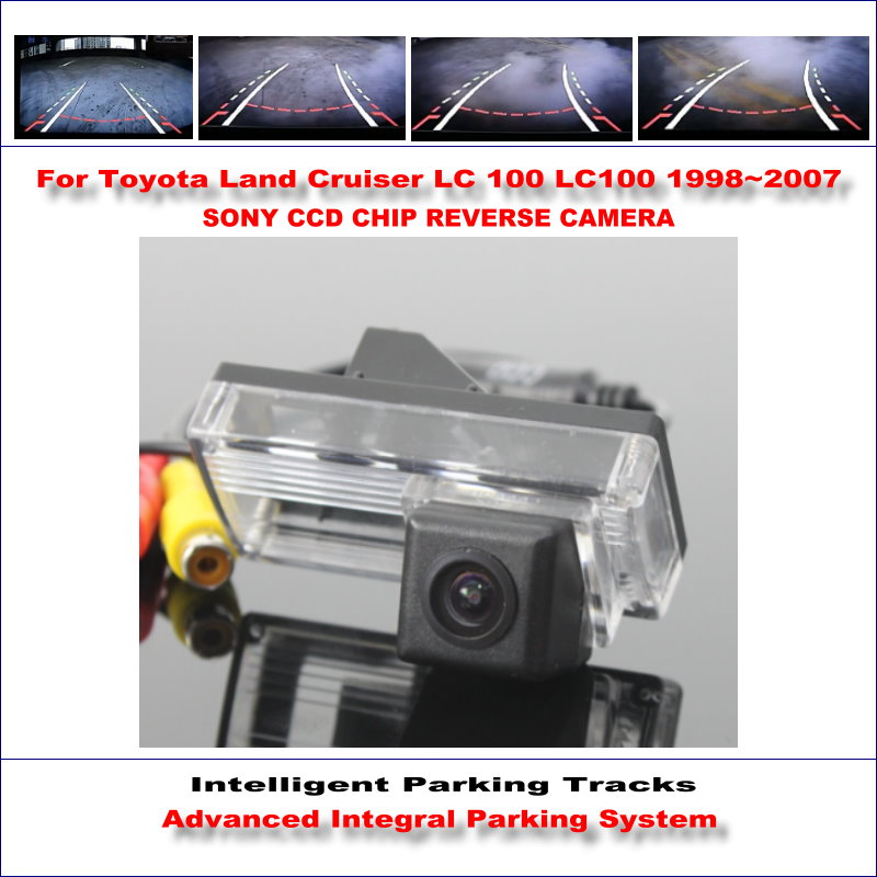 Car Reverse Rear View Camera For <font><b>Toyota</b></font> Land Cruiser <font><b>LC</b></font> <font><b>100</b></font> LC100 HD 860 Pixels Parking Intelligentized Dynamic trajectory image