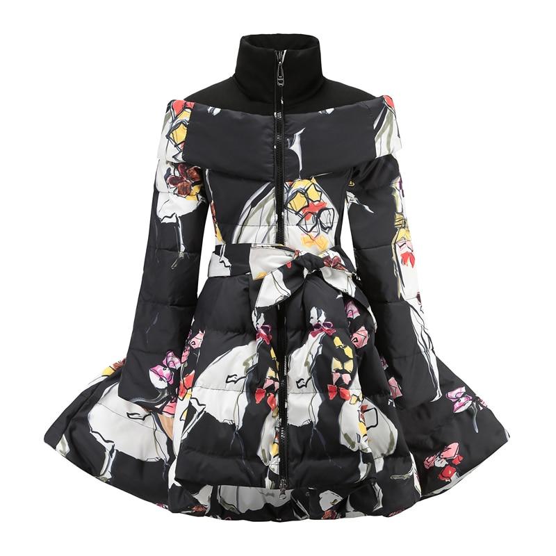 2018 New Russian Winter Jackets Girls Clothes 10 12 year Kids Down Jacket Belt Thicken Warm Parka Children Winter Long Coat стоимость