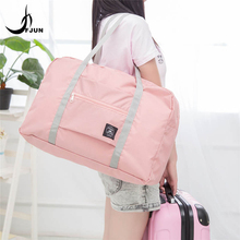 Outdoor Sports Gym Bags Portable Female Folding Storage Training Travel Shoulder Crossbody HandBag Women font b