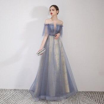 New Evening Dress Long Section 2019 Formal Dress Women Elegant  Wedding Party Reflection Dress Evening Gown Vestidos De Fiesta
