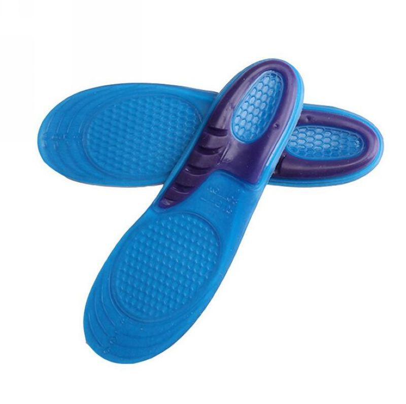 High Quality Thick Silicone Damping Pressure For Women and Men Sports Insoles Shoes Pad High Elasticity Gel Orthopedic insoles
