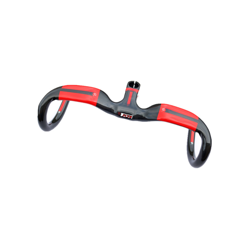 Specials! FCFB FW Full Carbon Fiber Road Bicycle Integrated Handlebar with stem T700 carbon handlebar road free shipping sale hot fcfb fw road handlebar new top carbon fiber road bends reach 80mm dorp 128mm carbon handlebar