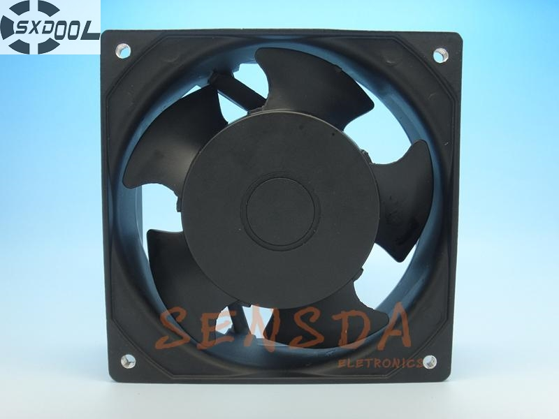 SXDOOL KA1238HA2 12038 120*120*38 mm AC 220V full metal high temperature waterproof cooling fan IP55 delta afb1212hhe 12038 12cm 120 120 38mm 4 line pwm intelligent temperature control 12v 0 7a