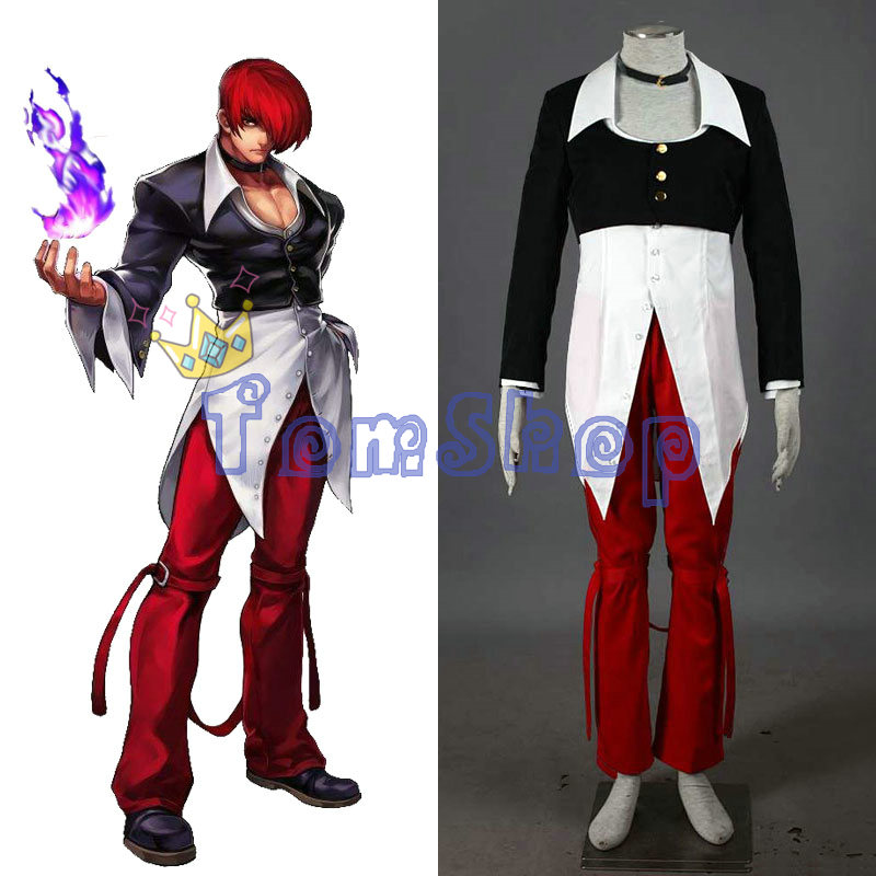 The King of Fighters KOF Iori Yagami Cosplay Suit Uniform Men Women Fancy Party Halloween Costumes Custom Made