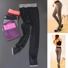 2016 sports legging fitness pants women gym trousers liner running tights pant yoga sports