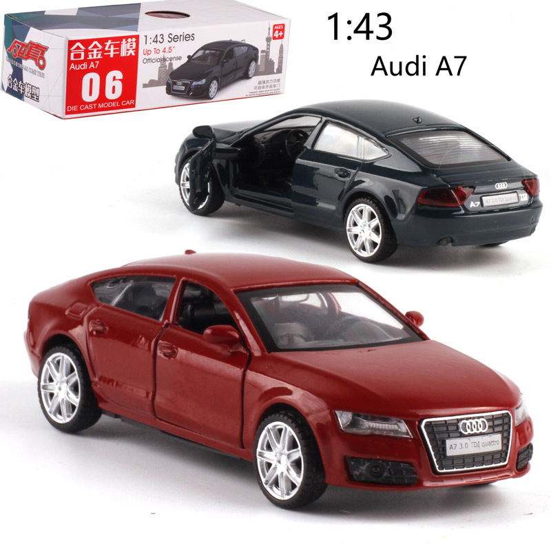 CAIPO 1:43 Audi A7 Alloy Pull-back Vehicle Model Diecast Metal Model Car For Boy Toy Collection Friend Children Gift