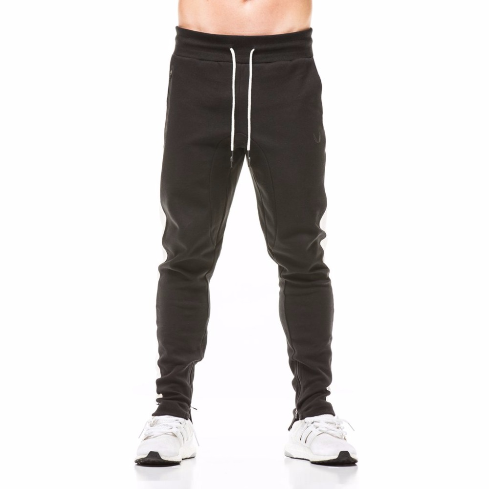 Running Mens Joggers Male Fitness Running Pants Brand Gym Clothing Sport Joggers Sweatpants Bottom Snapback Pants Men Aesthetics Hombre 2019 Official