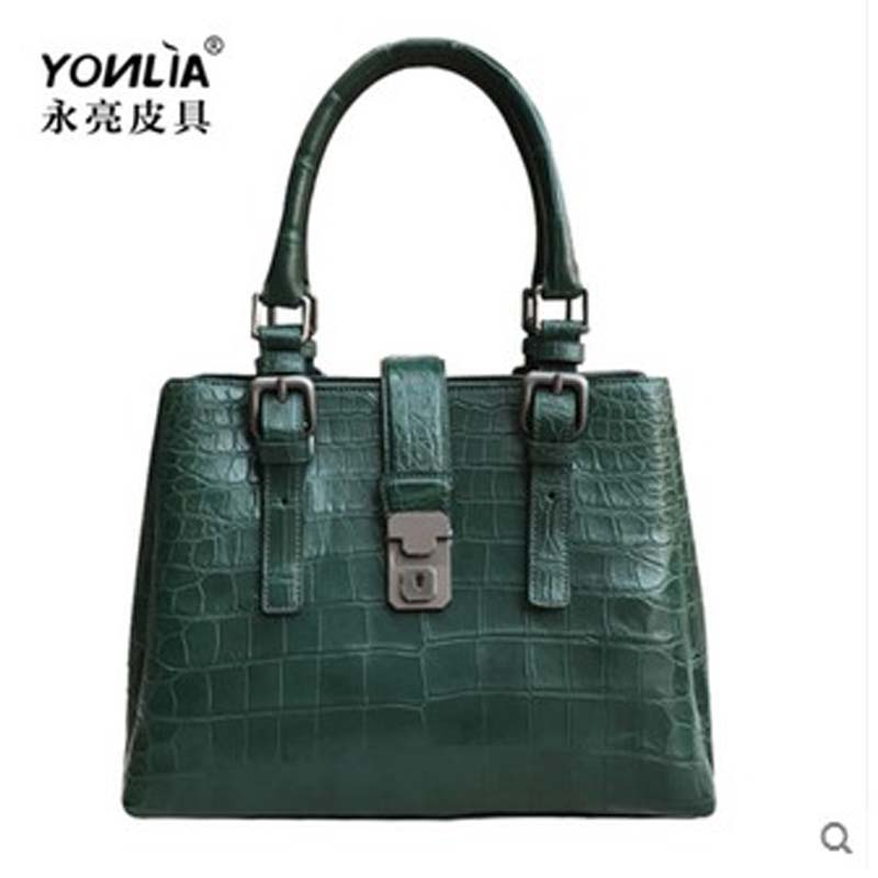 yongliang new old crocodile belly ladies women handbag crocodile leather large capacity single shoulder women bag yongliang 2017 new crocodile leather belly single shoulder men handbag crocodile leather crossbody fashion all match men bag