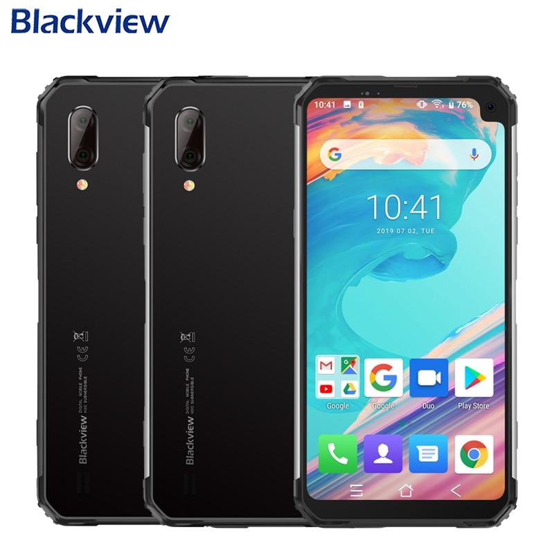 Téléphone portable étanche Blackview BV6100 IP68 6.88 pouces 3GB + 16GB MT6761 Quad Core Android 9.0 5580mAh NFC Smartphone robuste