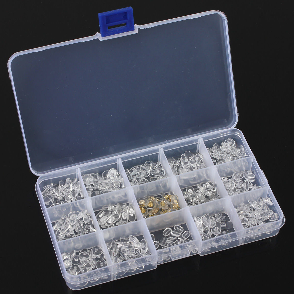 300 Pc Silicone Eyeglass Sunglasses Spectacles Screw On Nose Pads Repair Tool
