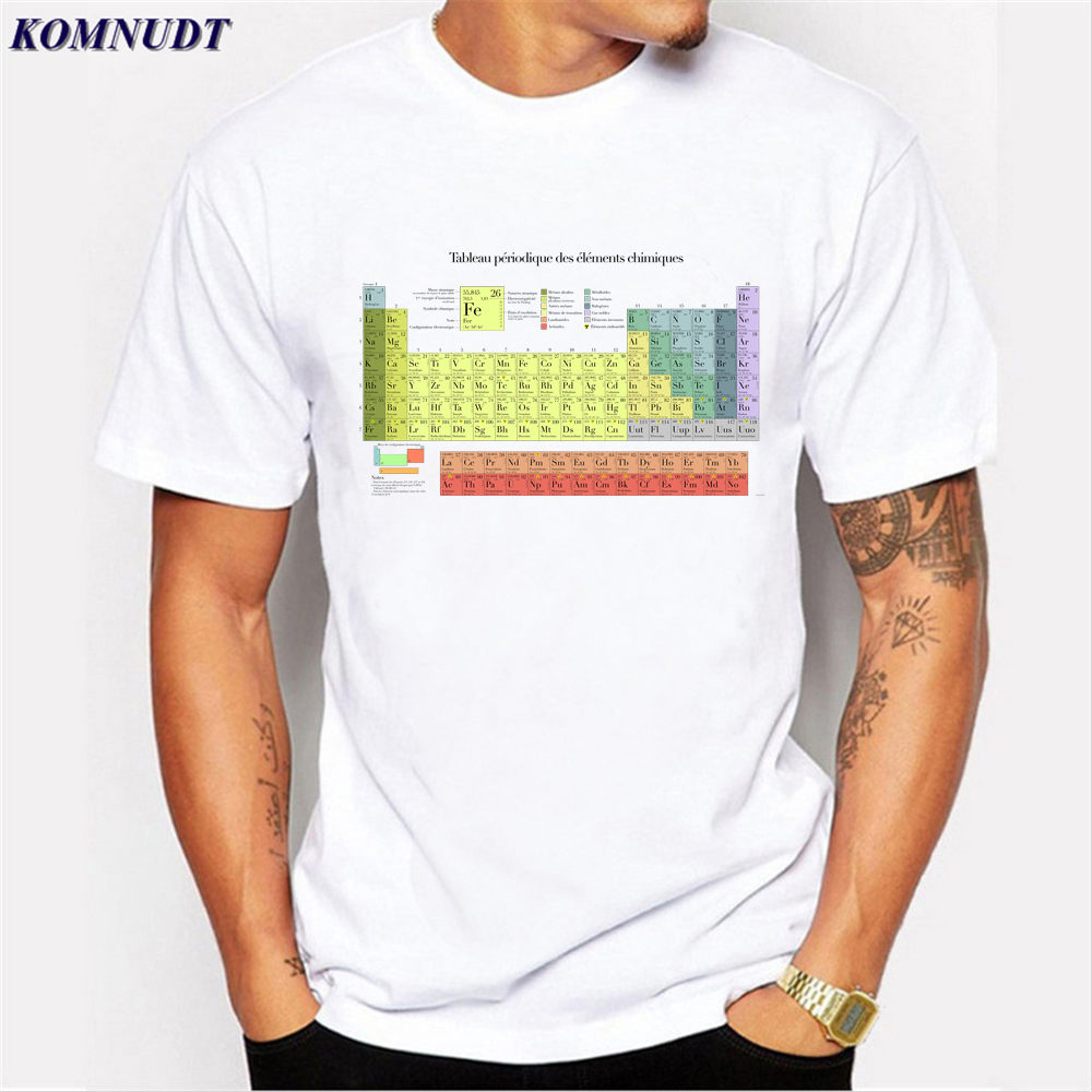 Komnudt 2017 Periodic Table Bacon Science Geek T Shirt Funny