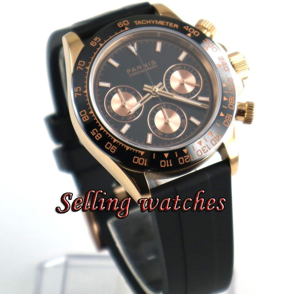 Parnis 39mm montres mécaniques saphir cristal homme montre 2018 plongeur montre Quartz relogio masculino rôle de luxe montre hommes