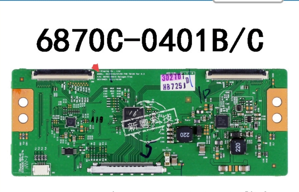 6870c-0401b 6870c-0401C Logic Board  Connect With  T-CON Connect Board