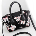 2015 new famous designer brand women's quality leather handbags vintage floral ladies cluthes small shoulder bag